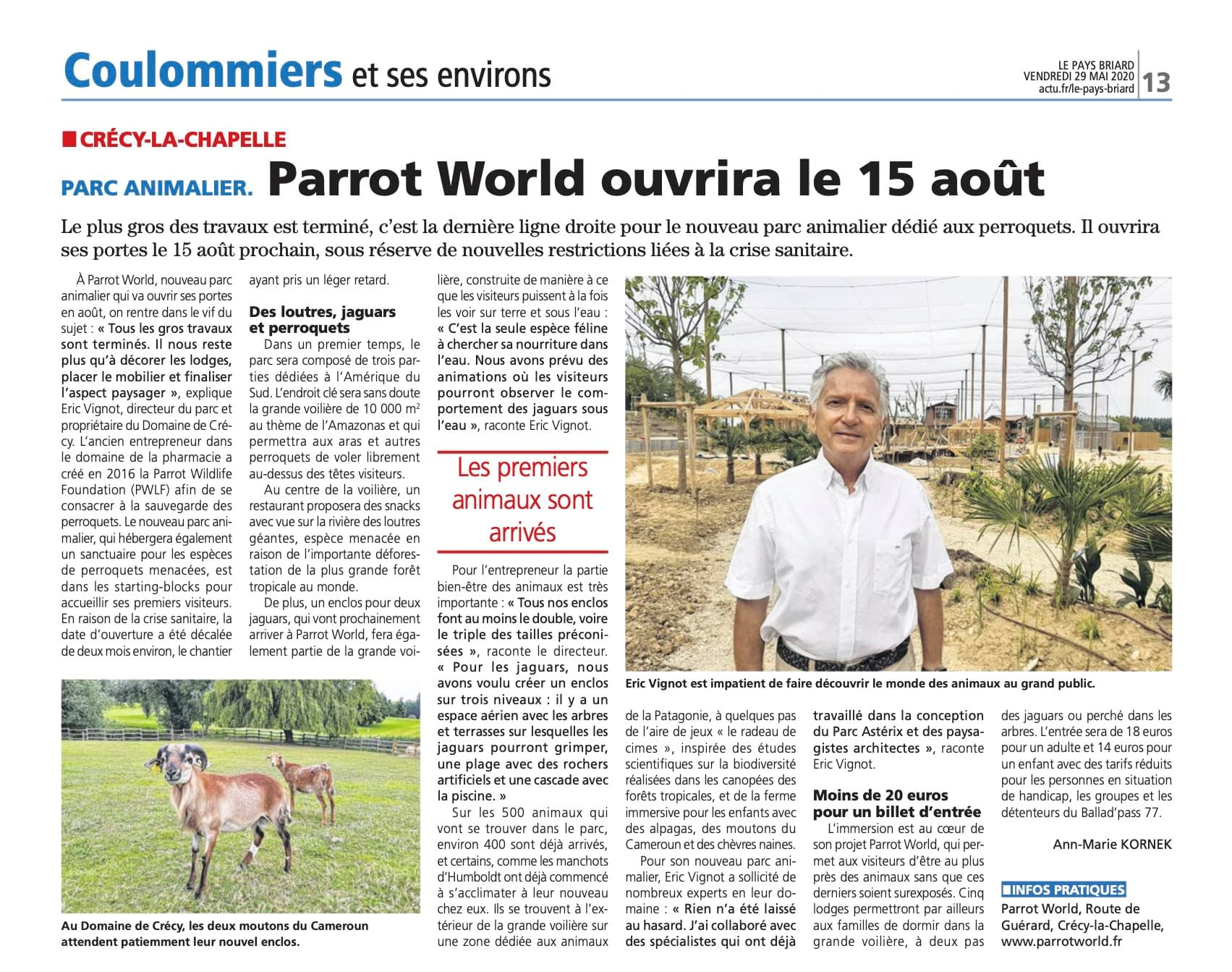 Le Pays Briard: ouverture de Parrot World