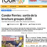 TourMag annonce la sortie de la brochure groupes 2020 de Condor Ferries