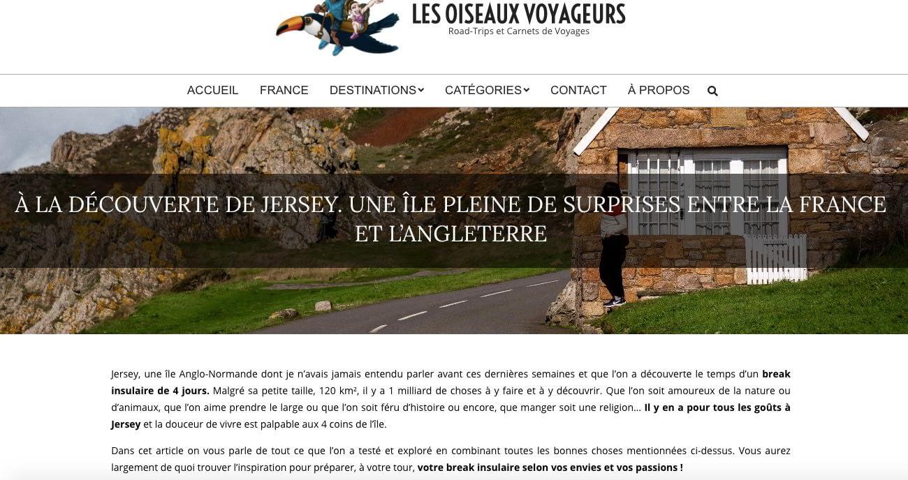 Les Oiseaux Voyageurs à la découverte de Jersey