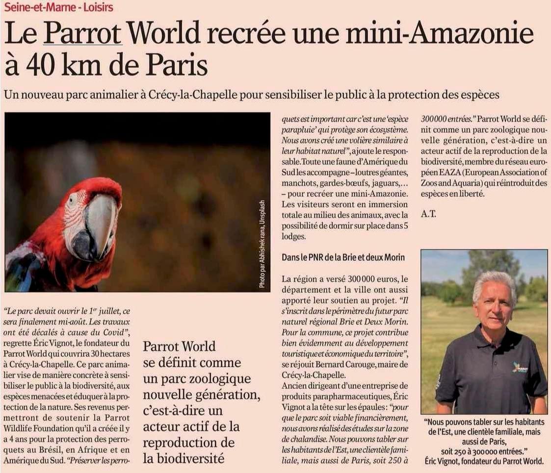 Le Nouvel Economiste présente Parrot World