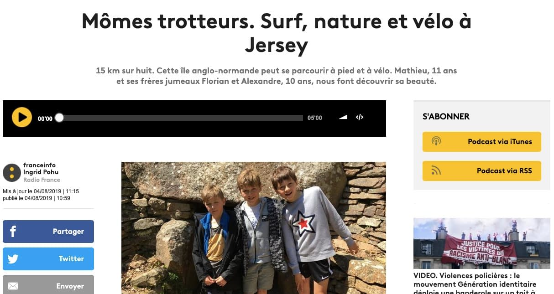 Mômes Trotteurs de France Info à Jersey
