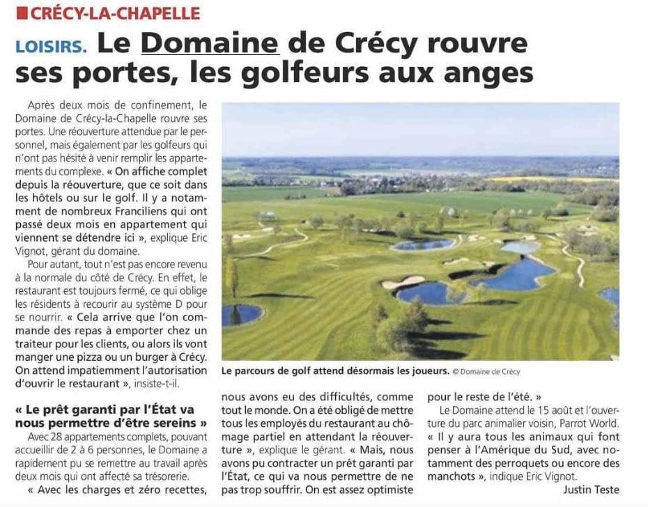 La Marne: réouverture du Domaine de Crécy