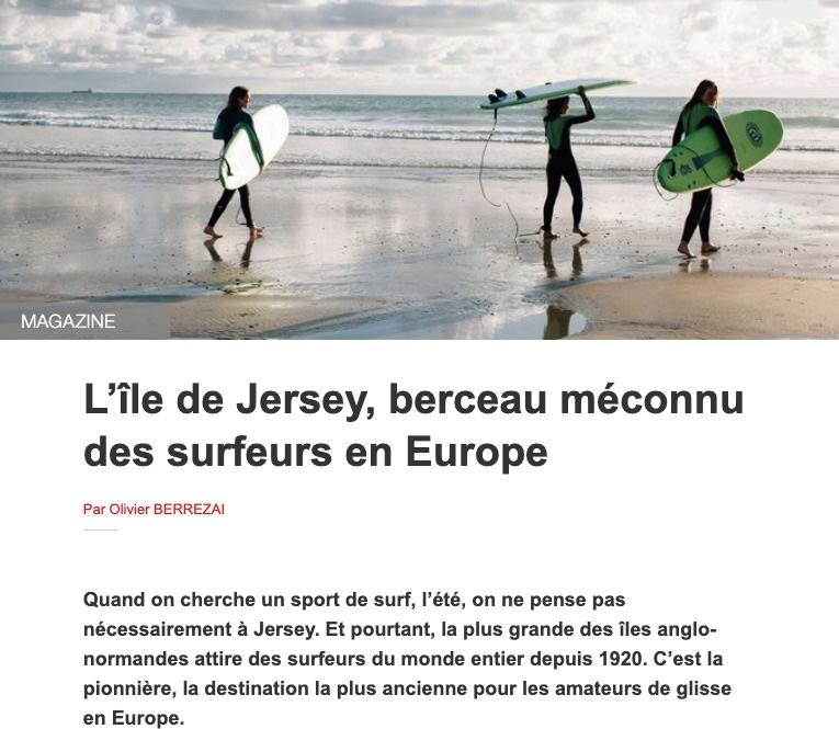 Ouest France : Jersey berceau du surf