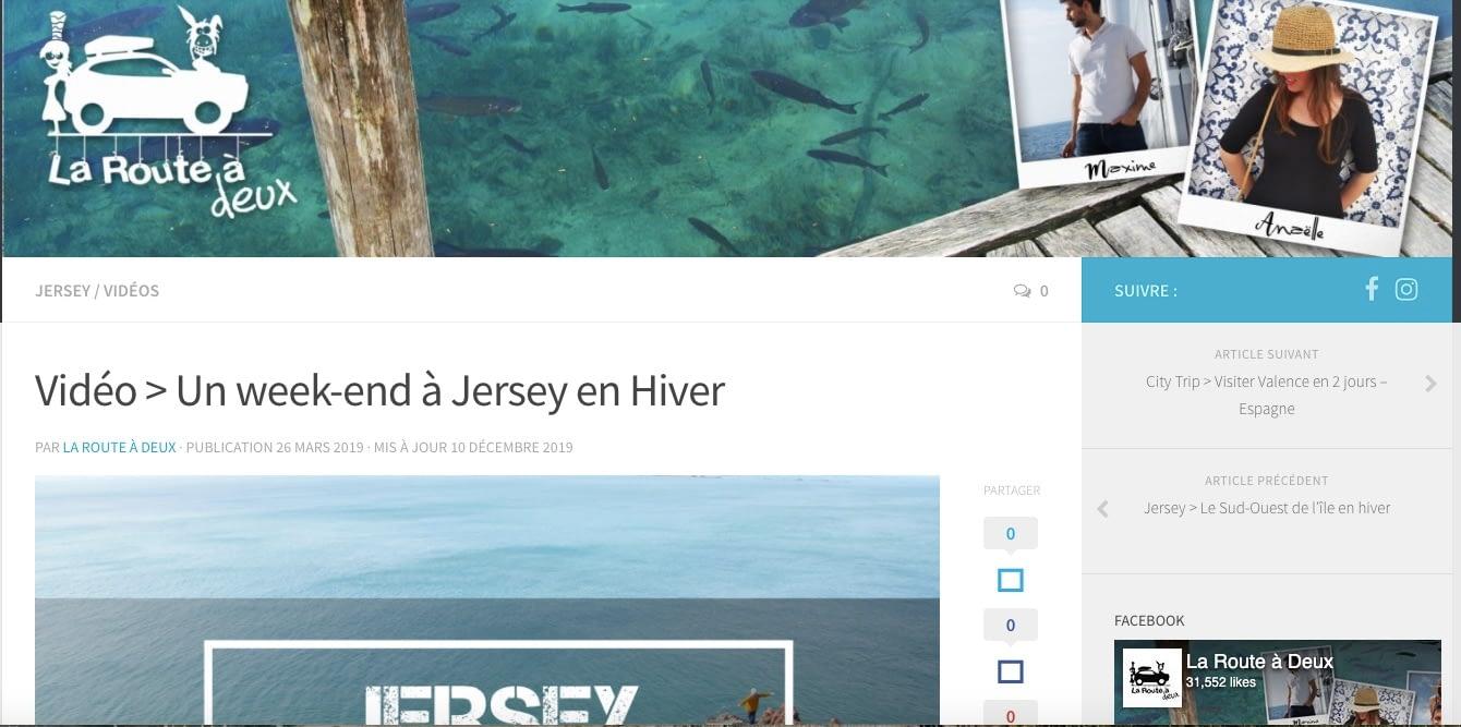 La Route à deux à Jersey