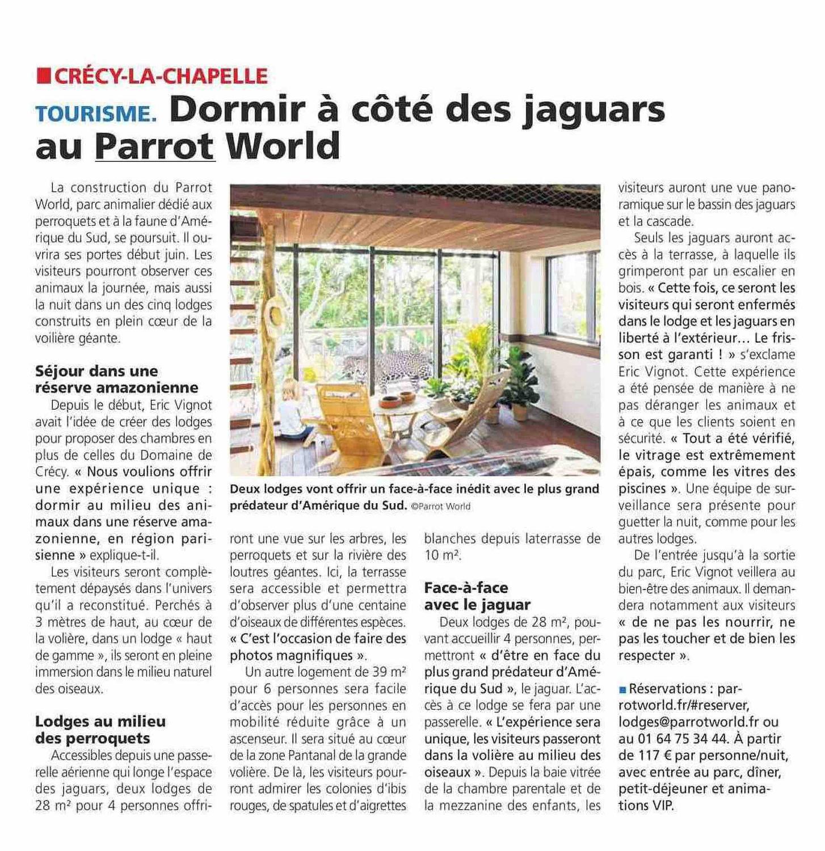 La Marne: une nuit insolite à Parrot World